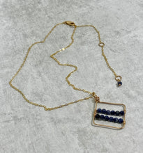 Load image into Gallery viewer, Gemstone Geometric Pendant 14k Gold Filled Necklace