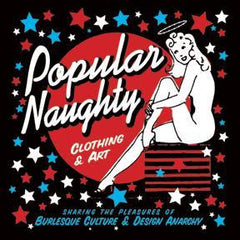 popular naughty burlesque t shirts, punk t shirts, alternative clothing and art logo