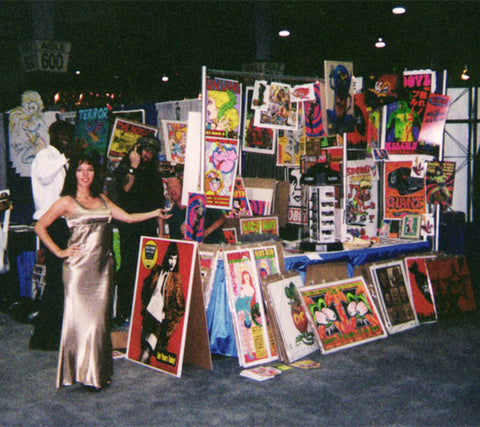 Kozik, rob zombie, shepard fairy, dave burke, obey art prints, comic con booth and punk streetwear