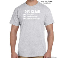 100% Clean - Na T-Shirt Syc S / Gray Shirts