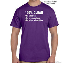 100% Clean - Na T-Shirt Syc S / Purple Shirts