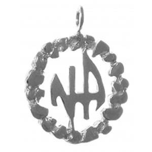 tsg372- Medium Size, Sterling Silver Pendant,