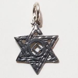 tsg569-10- Silver NA Jewish Star of David - CLEARANCE