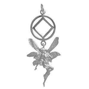 tsg823-10- Silver, NA Symbol w/ a Magical Fairy - CLEARANCE