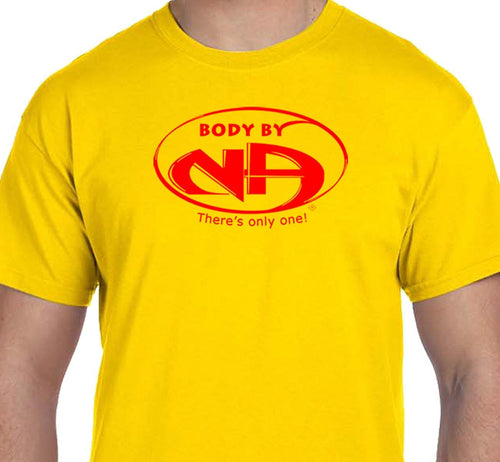 Body By NA  Yellow & Red Tee - CLEARANCE