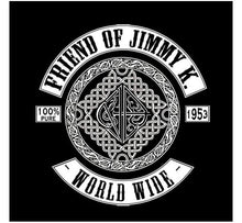 "bs- Friennd Of Jimmy K - Sticker 3""x3"""