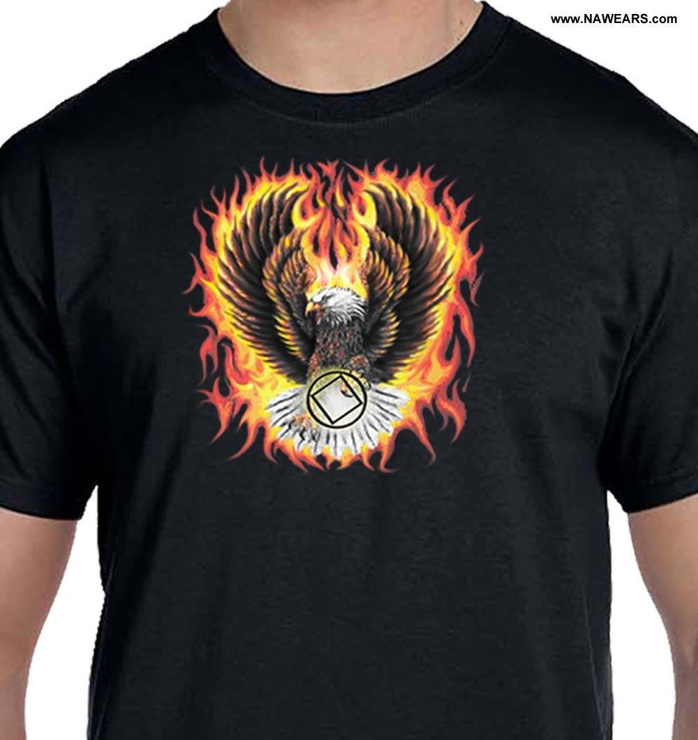 Flaming Eagle T-shirt - nawears