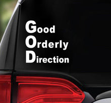 Win Decal - God GOOD ORDERLY DIRECTION - nawears