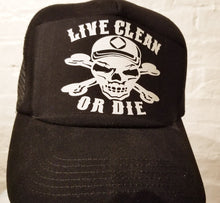hg- Trucker Cap- Live Clean - Black