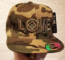 hg- Ball Cap-09- Love Logo -Camo/Blk