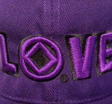hg-bc-13 - Purple NA Love Logo Ball Cap - nawears