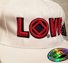 hg- Ball Cap-15- NA Love Logo   -White/Black/Red