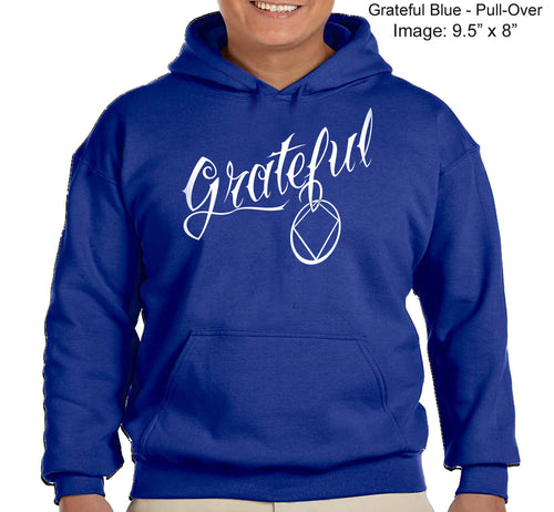 Hoodie - GRATEFUL NA - Blue CLOSEOUT