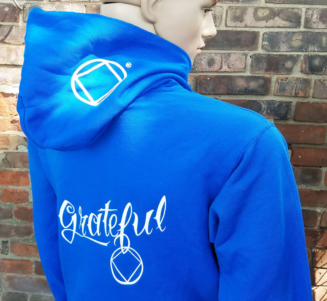 Hoodie - GRATEFUL NA - Blue DISCONTINUED