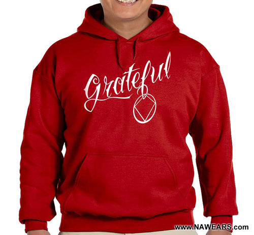 Hoodie - GRATEFUL NA - Red