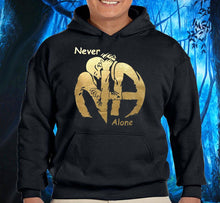 Hoodie - Hugs Never Alone - Black