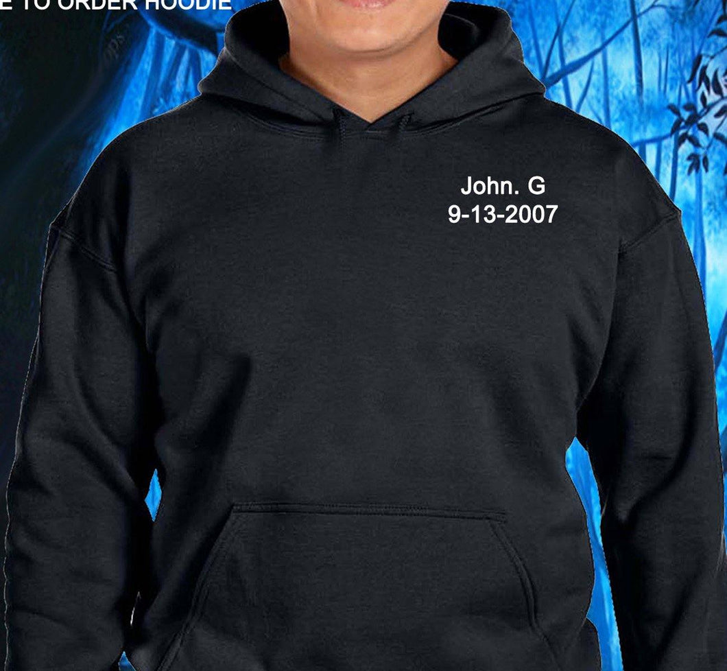 Customized Clean Date Hoodies