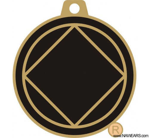 mkt- Blk & Gold Service Key Chain