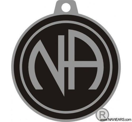mkt- Black & Silver NA Key Chain