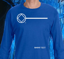 LS - Basic Text - Blue Long Sleeve