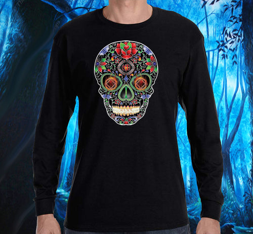 LS - Sugar Skull INVERETED - Long Sleeve Tee