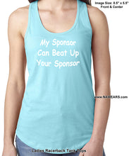ltt- My Sponsor Can - Ladies Tank Tops