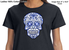 ldTs- Sugar Skull - Blue Life - Ladies T's