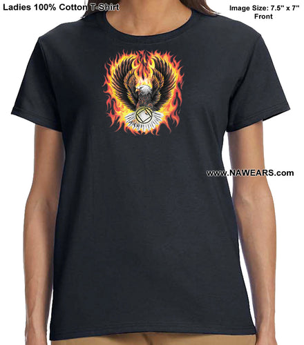 ldTs- Flaming Eagle - Ladies T's
