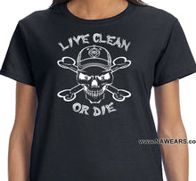 ldTs- Live Clean Cappy - Ladies T's