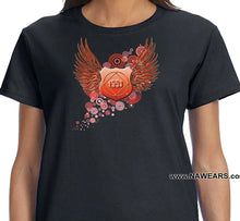 ldTs- Red Flying Shield - Ladies T's