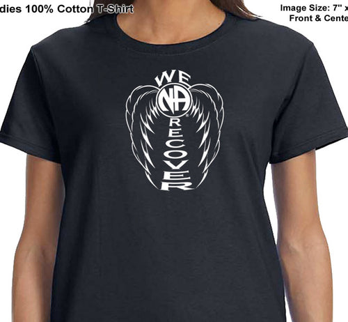 ldTs- We Recover Wings- Ladies T's