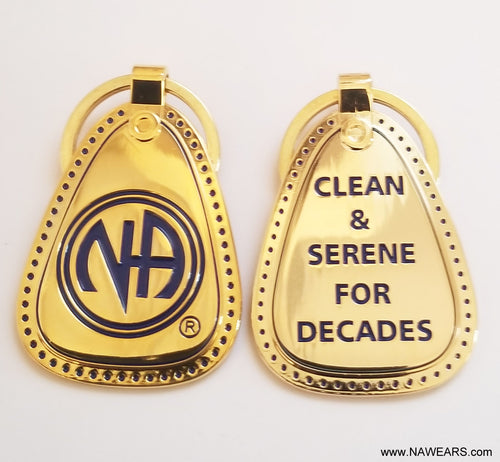 mkt- Metal Gold Decades Clean Key Tag