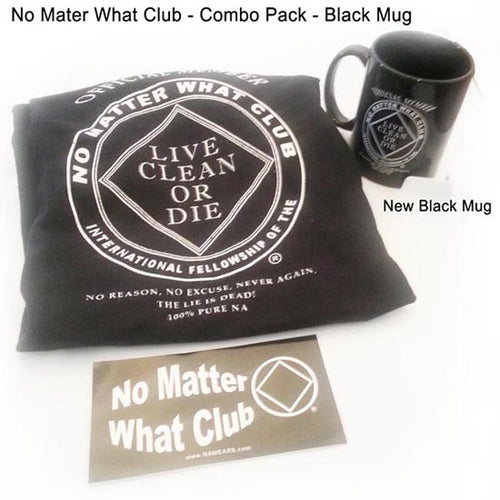 No Matter What - Combo Pack -  Black Mug
