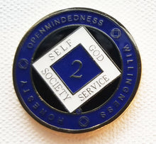 Recovery Medallion -  Black & Blue