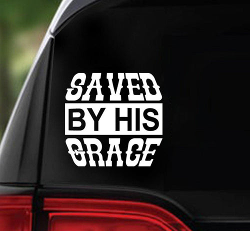 Win Decal - SAVED By His GRACE - nawears