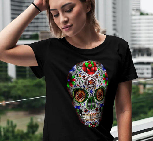 ldTs- Sugar Skull 2020  - Ladies T's - nawears