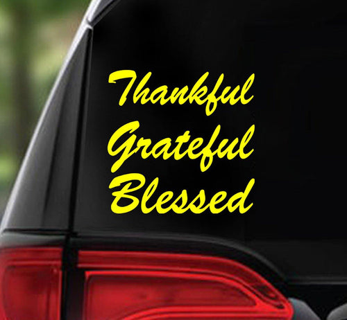 Win Decal - Thankful Grateful Blessed - nawears