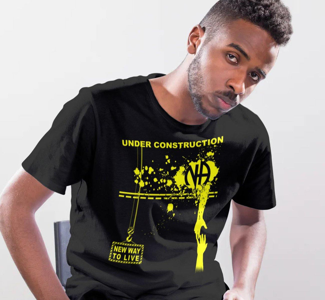 Under Construction Black Tee - nawears