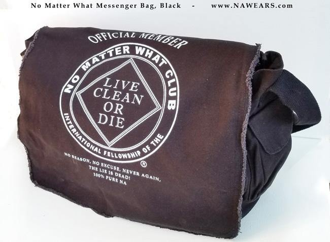Bag- No Matter What  - Black Messenger Bag