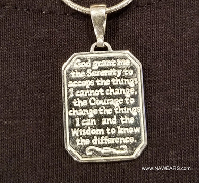 ssj004- Serenity Prayer Pendant