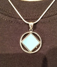 ssj006- Medium Silver & Blue Pendant