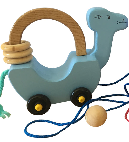 made in america wooden baby toy push-and-pull Bernie
