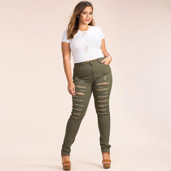 The Lilic High Waist Distressed Jeans - Bold and Beautiful