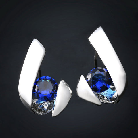 Crystal Inlay Zircon Earrings - Bold and Beautiful