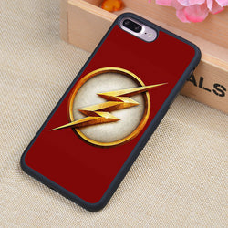 The Flash DC Comics Logo Printed Soft Rubber Mobile Phone Case OEM For iPhone 6 6S Plus 7 7Plus 5 5S 5C SE 4 4S Back Cover Shell - Bold and Beautiful