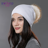 Raccoon Fox Fur PomPom Beanie - Bold and Beautiful