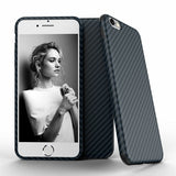 Newest Environmental Carbon Fiber Case For iPhone 6 6S Plus Soft Anti-Skid Anti-Knock Cover For iPhone 7 / Plus Leather Skin - Bold and Beautiful