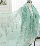 High quality Blue and White Porcelain Style Scarf Shawl - Bold and Beautiful