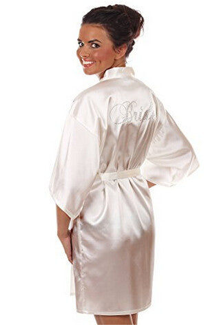Short Satin Night Robe - Bold and Beautiful