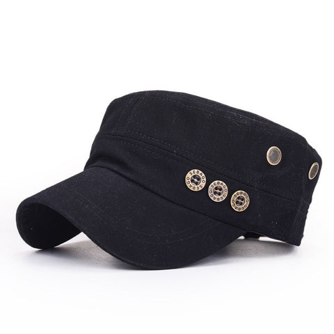 Flat Top Military Style Baseball Cap - Bold and Beautiful